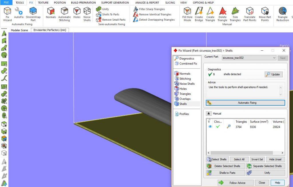 riparare stl stampa 3d in automatico