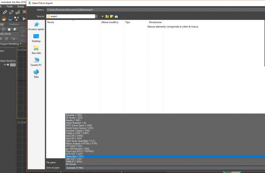 convertire file stl stampa 3d