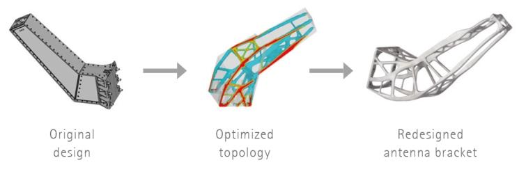 ottimizzazione topologica - Altair software e stampante 3d professionale metallo eos