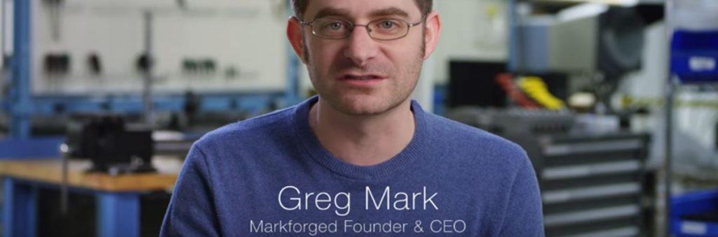 Titolo Gregory Mark Founder & CEO di Markforged Didascalia