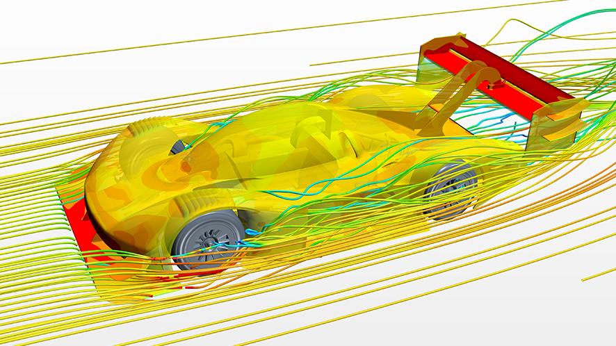 stampa 3d Volkswagen I.D. R Pikes Peak simulazione galleria del vento