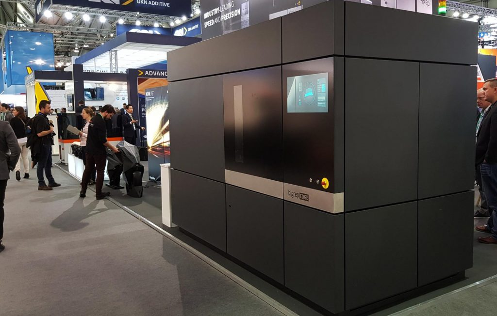 stampante 3d grande formato bigrep edge - foto Francesco Puzello - Formnext Francoforte