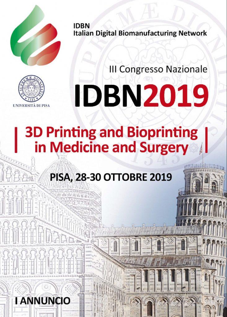 congresso IDBN stampa 3d biofabbricazione