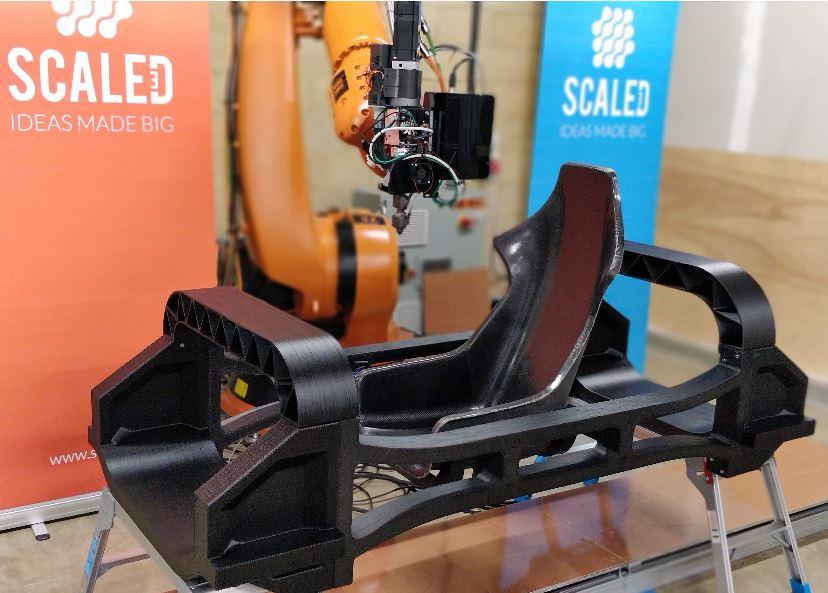 scaled stampa 3d veicolo elettrico